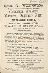 Advert For Geo. G. Vieweg, Auctioneer